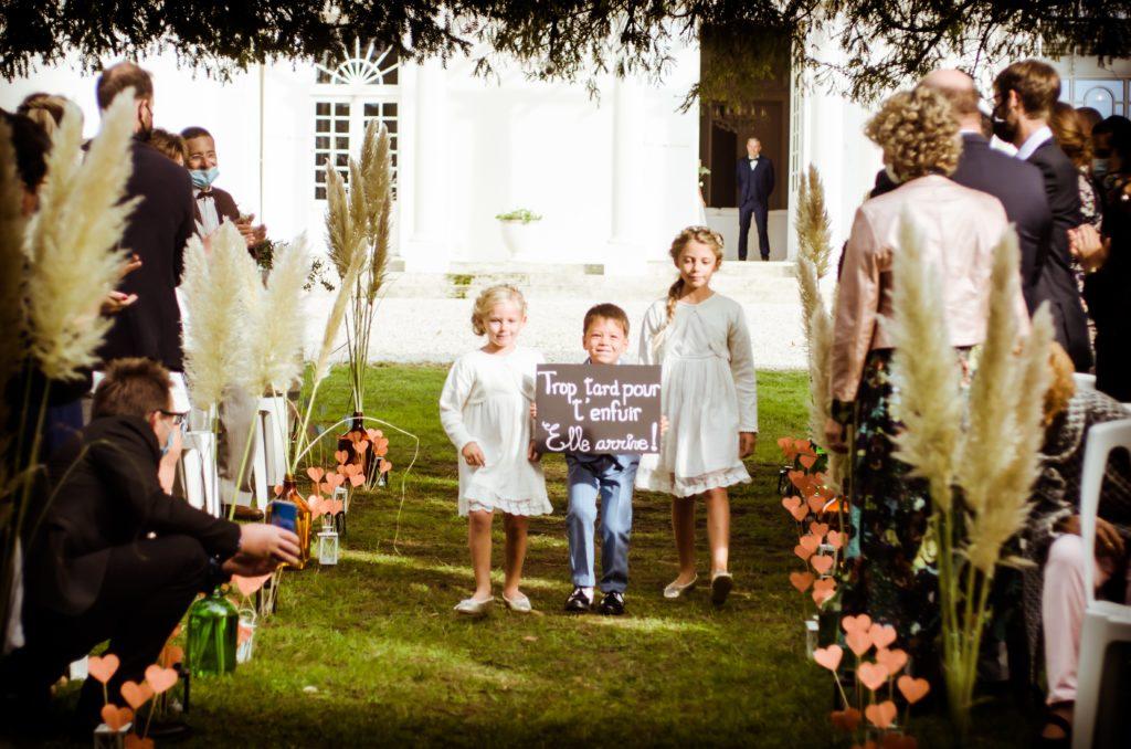 Cérémonie laïque nature extérieure familiale au château